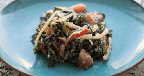 Сыроедческий салат «Морской»