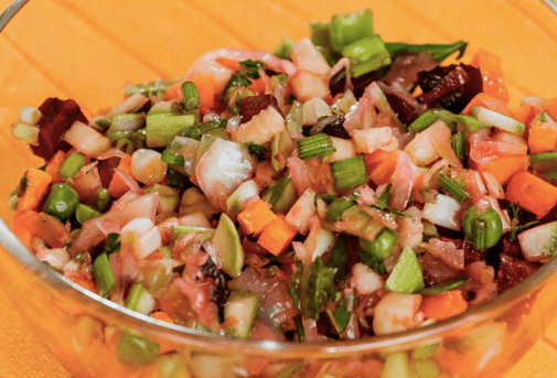Сыроедческий салат «Винегрет»